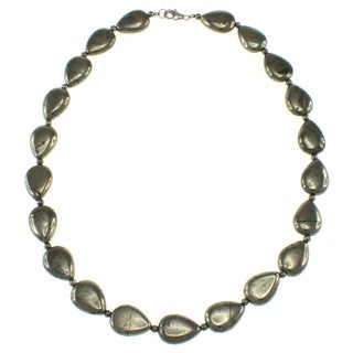Pearlz Ocean Sterling Silver Pyrite Bead Necklace