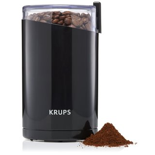 Krups Black Metal, Stainless Steel, and Clear Plastic Electric Spice and Coffee Grinder