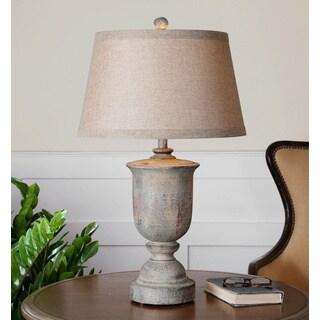 Uttermost Aurelius Rustic Wood Table Lamp