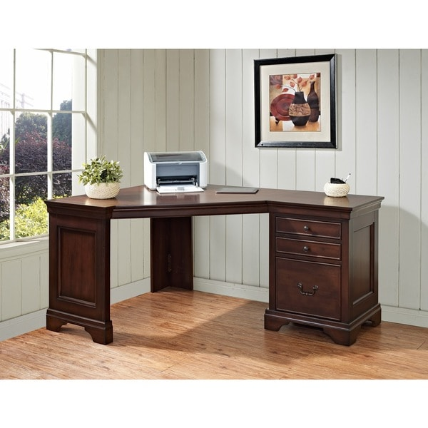 Shop Mulberry 60 Inch Corner Computer Desk Free Shipping