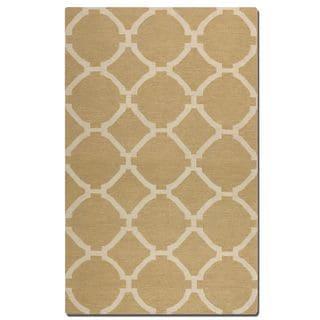 Uttermost Bermuda Wheat Geometric Pattern Flatweave Wool Rug (8' x 10')