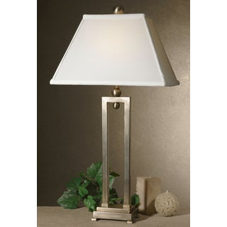 Uttermost Conrad Silverplated Iron Table Lamp