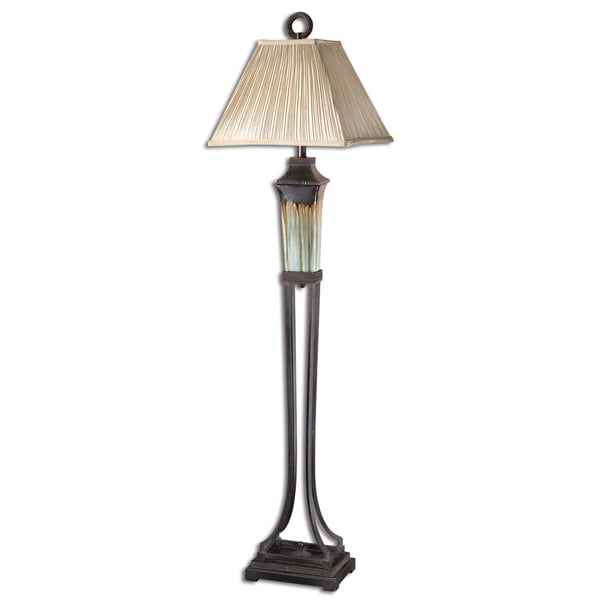 Shop Uttermost Olinda Light Green Ceramic Floor Lamp Free Shipping