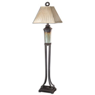 Uttermost Olinda Light Green Ceramic Floor Lamp