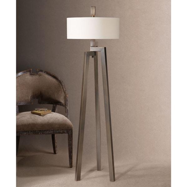 Uttermost Mondovi Metal Fabric Floor Lamp