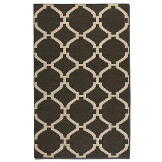 Uttermost Bermuda Charcoal Wool Rug (5' x 8')