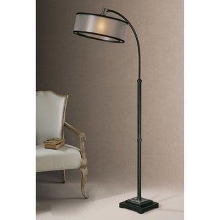 Uttermost Worland Dusty Matte Black Metal Floor Lamp