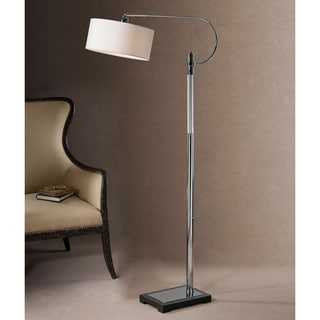 Uttermost Adara Polished Chrome Hook Floor Lamp