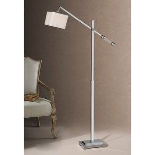 Uttermost Waldron Polished Chrome Floor Lamp