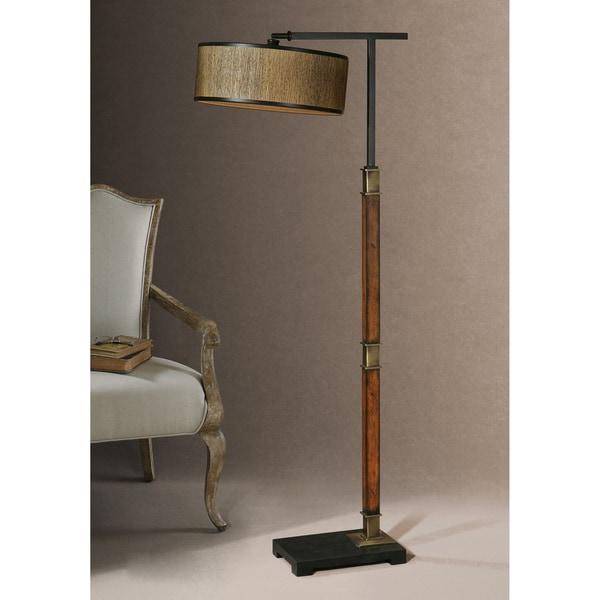 Uttermost Allendale Metal Fabric Wood Floor Lamp