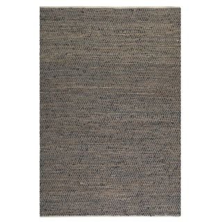 Uttermost Tobias Recycled Brown Leather Rug