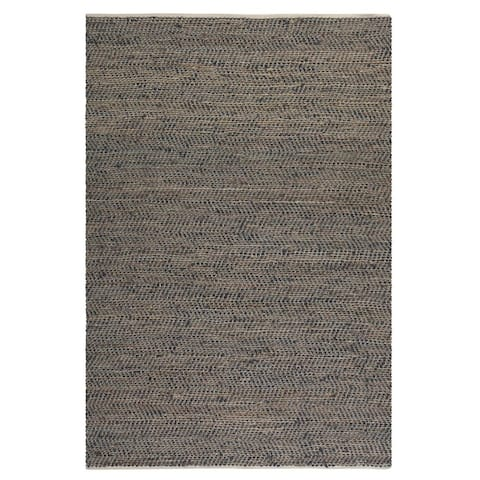 Uttermost Tobias Recycled Leather Rug (5x8) - 5' x 8'