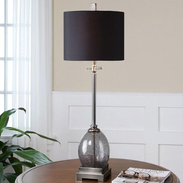 Uttermost Denia Metal Glass Floor Lamp