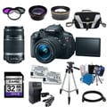 Canon EOS Rebel T5i DSLR Camera Body with 18-55mm IS STM and 55-250mm IS II Lenses 32GB Bundle