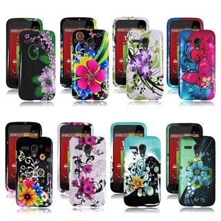 INSTEN Hard Plastic Protective Rubberized Phone Case Cover for Motorola Moto G