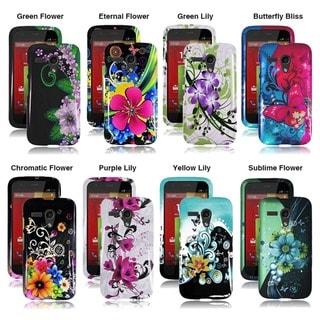 INSTEN Hard Plastic Protective Rubberized Phone Case Cover for Motorola Moto G