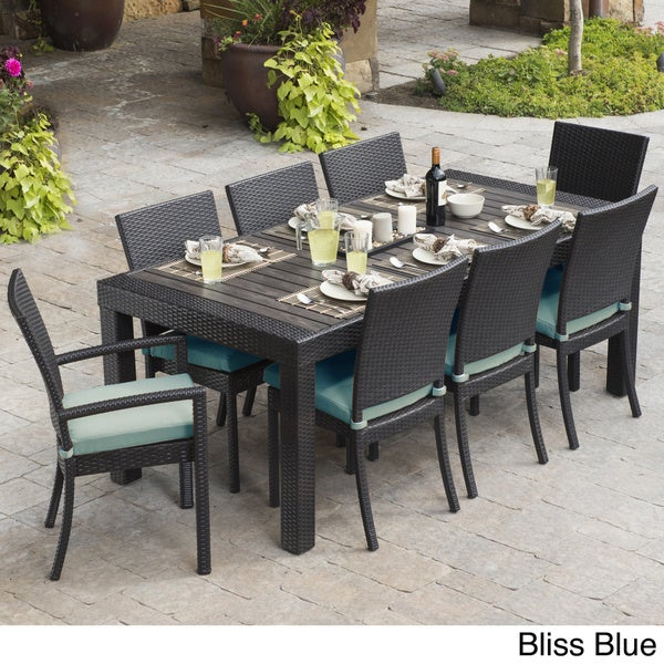 Rst Brands Deco 9 Piece Dining Set Patio Furniture Free Shipping Today Overstock Com 16281584