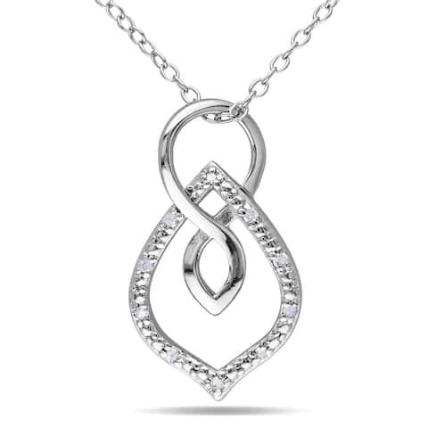 Miadora Sterling Silver Diamond Accent Necklace
