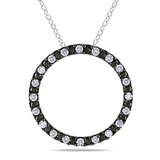 Miadora Sterling Silver 1/2ct TDW Diamond Circle of Life Necklace