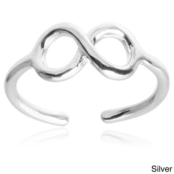 Journee Collection Sterling Silver Infinity Toe Ring