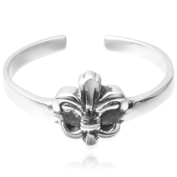 Journee Collection Sterling Silver Fleur-de-lis Toe Ring