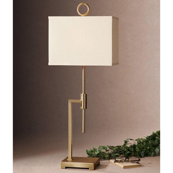 Uttermost Feldon Metal Fabric Floor Lamp