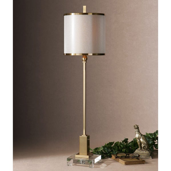 Uttermost Villena Metal Fabric Crystal Floor Lamp