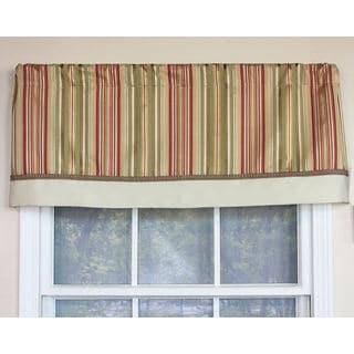 Clark Spring Stripe Banded Window Valance
