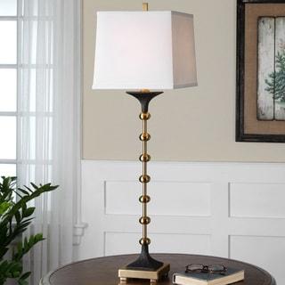 Uttermost Santona Metal Resin Fabric Floor Lamp