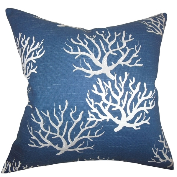 Hafwen Coastal Navy Blue Feather Filled 18-inch Throw Pillow - Free Shipping Today - Overstock ...