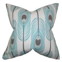 Hedy Feather Blue Feather Filled 18-inch Throw Pillow