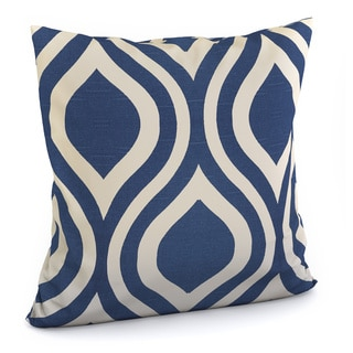 Larch Geometric Indigo Feather Filled 18-inch Throw Pillow