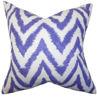 Kingspear Zigzag Purple Feather Filled Throw Pillow