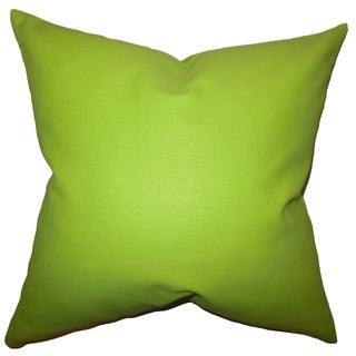 Kalindi Solid Chartreuse Feather Filled Throw Pillow