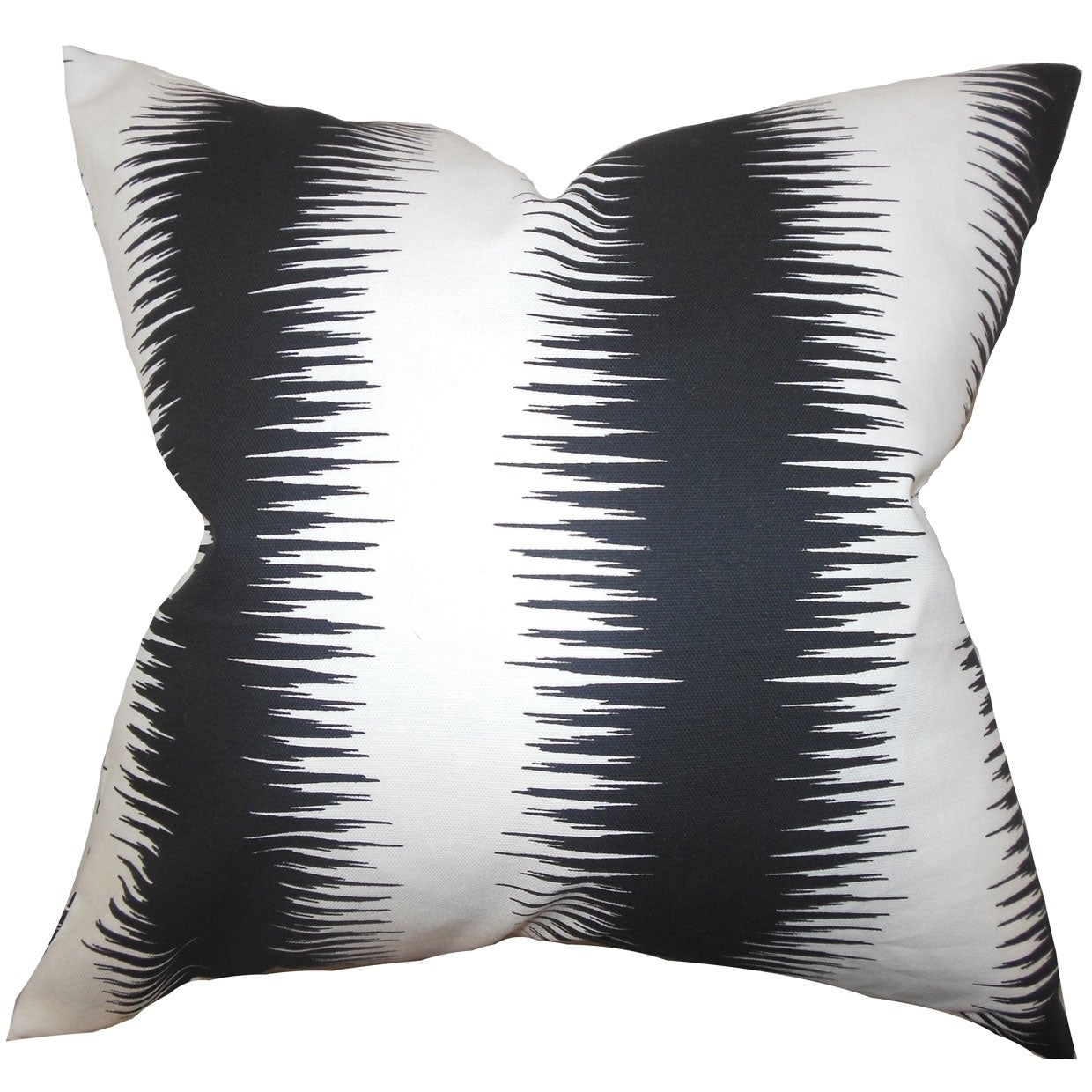 The Pillow Collection Aebba Tile Pillow Black