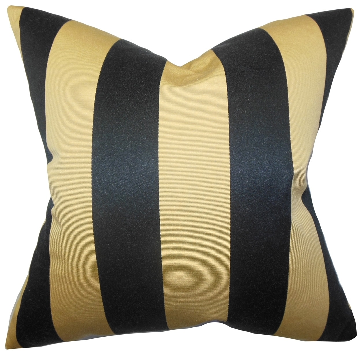 The Pillow Collection Naoko Stripes Pillow Gold Black