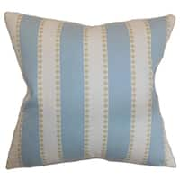 Odienne Stripes Putty Feather Filled Throw Pillow