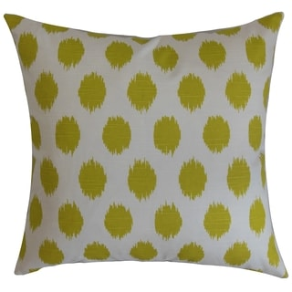 Kaintiba Ikat Green Feather Filled 18-inch Throw Pillow