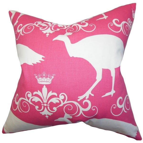 Flannery Animal Print Pink Feather Filled 18-inch Throw Pillow