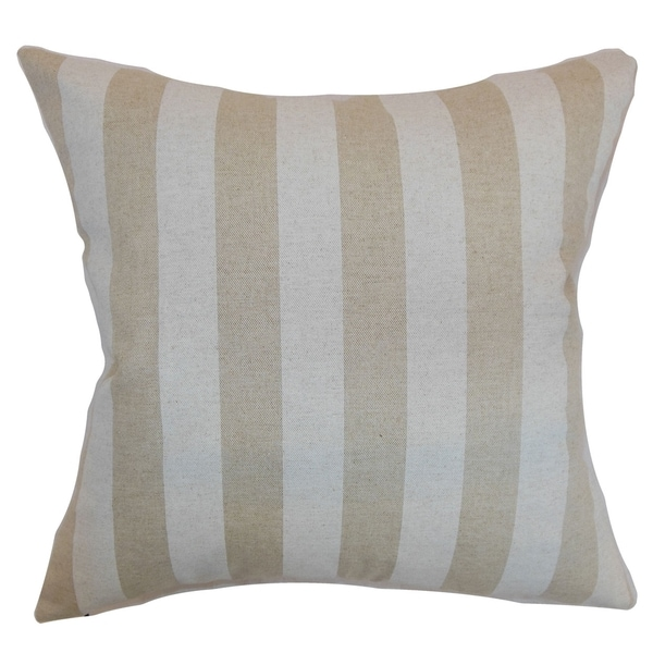 Ilaam Stripes Cloud Linen Feather Filled Throw Pillow