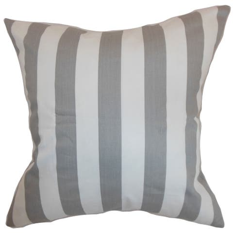 Ilaam Stripes Storm Twill Feather Filled Throw Pillow