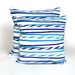 Swirl Stripe 20-inch Throw Pillow (Set of 2)