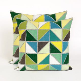 Geometric 20-inch Throw Pillow (Set of 2)