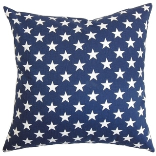 Sitara Stars Blue Feather Filled 18-inch Throw Pillow