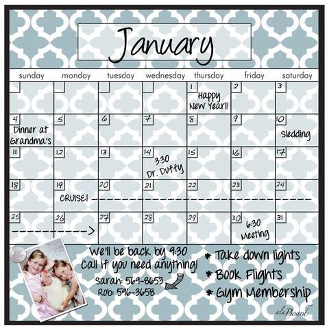 12 Month Fridge Calendar