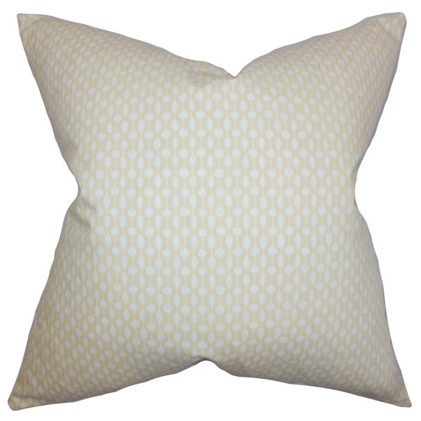 Orit Geometric Stone Feather Filled 18-inch Throw Pillow - 16284124 ...