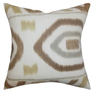 Rivka Geometric Rattan Feather Filled 18-inch Throw Pillow