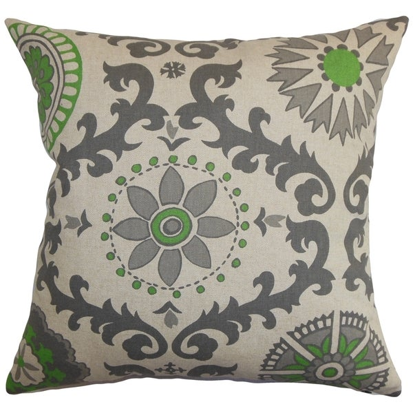 Domain Feather Filled Decorative Pillow : Kaula Geometric Gray Feather Filled 18-inch Throw Pillow - Free Shipping Today - Overstock.com ...