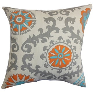 Kaula Geometric Pillow Feather Filled 18-inch Throw Pillow