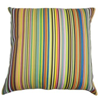 Kaili Stripes Indoor/Outdoor Multi Color 18-inch Throw Pillow
